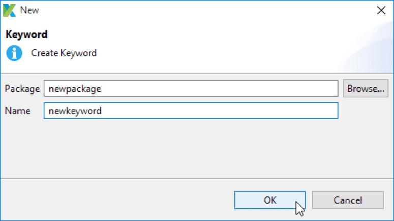 新关键字对话框