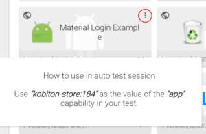 Kobiton App Repository