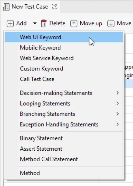 Katalon Studio Web UI Keyword