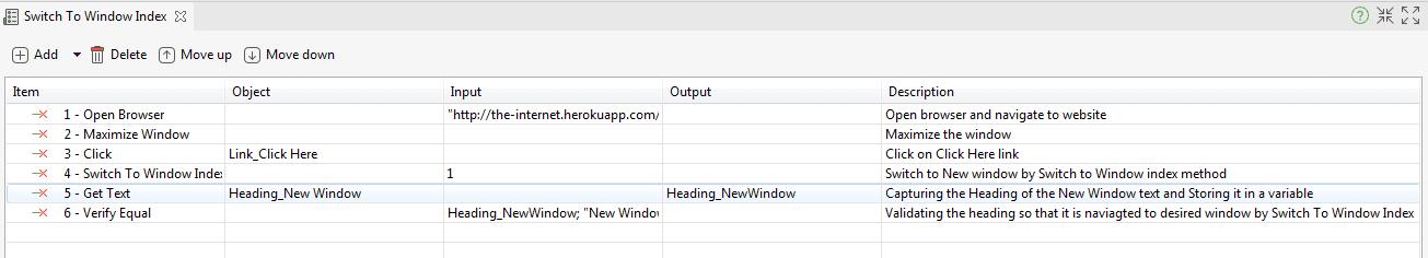 Switch To Window Index