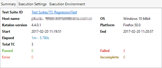 test execution summary report