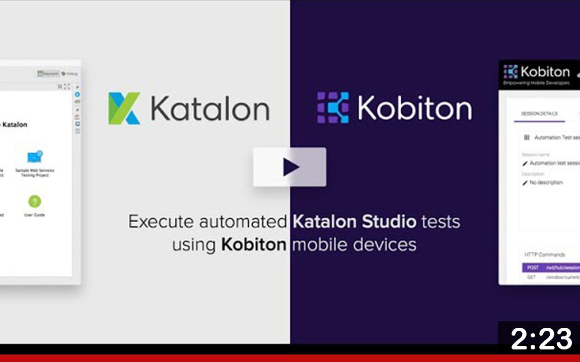 Katalon Kobiton integration