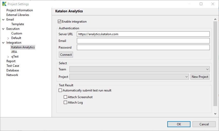 Check the Enable integration box