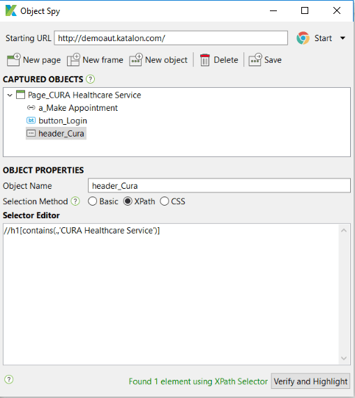 Xpath object selector