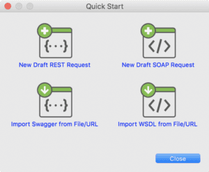 Import Web service requests with Quick Start Wizard