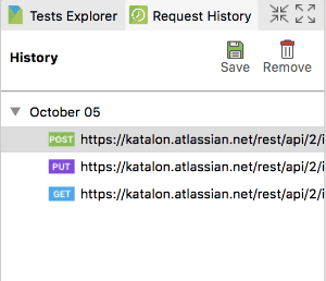 Retrieve Request History API Testing