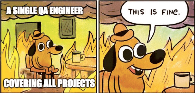 Single QA engineer