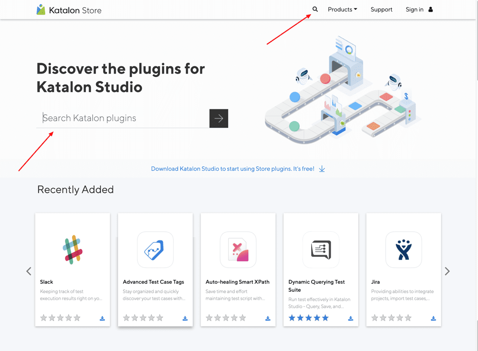 Find & install Katalon Plugins