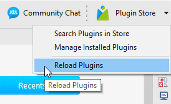 Reload Katalon Plugins