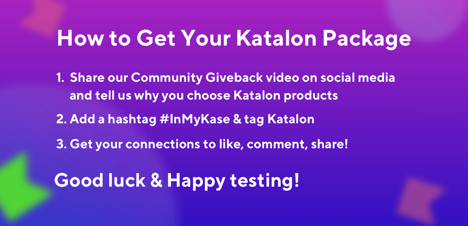 Katalon Community Giveback 2020-Rules