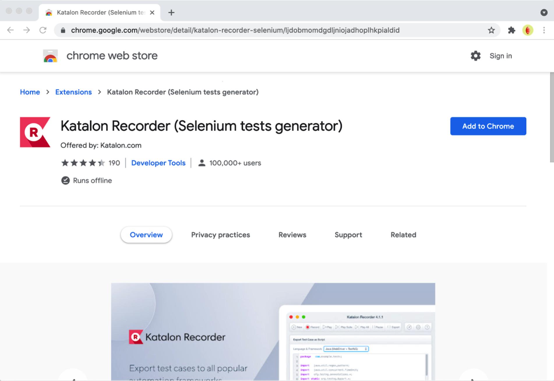 katalon recorder web automation